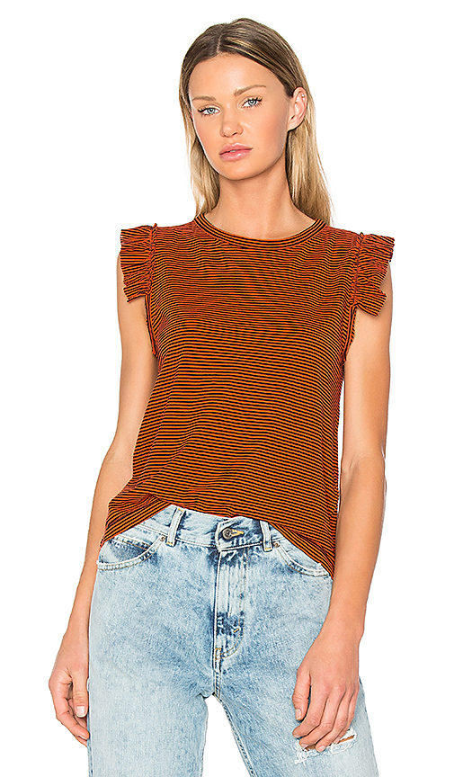 Golden Goose Volant Top in Red