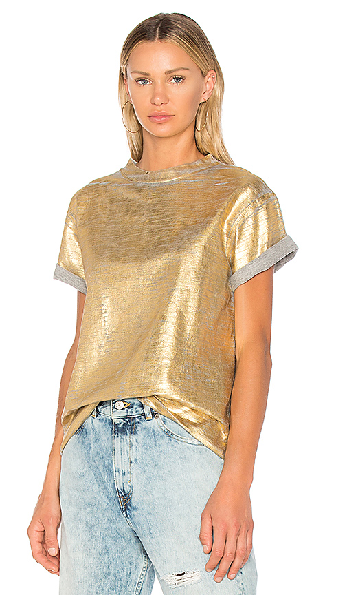 Golden Goose Golden Tee in Metallic Gold