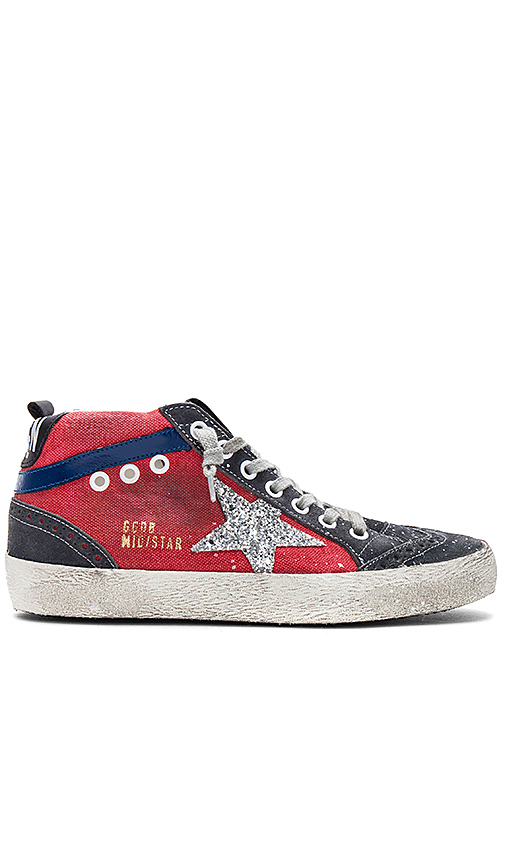 Golden Goose Mid Star Sneaker in Red. - size 39 (also in 35,36,37)