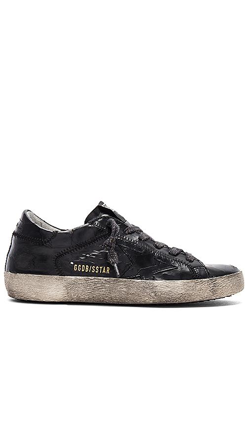 Golden Goose Superstar Sneaker in Black
