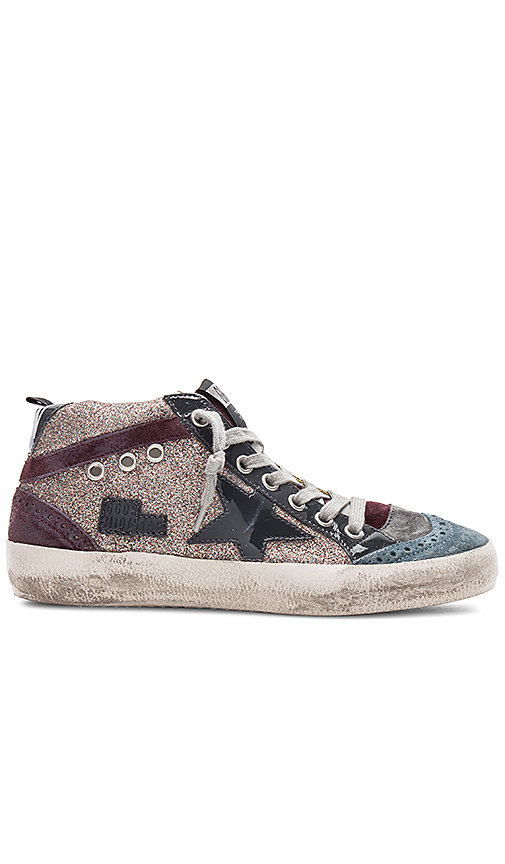 Golden Goose Mid Star Sneaker in Charcoal. - size 35 (also in 36,37,38,39)