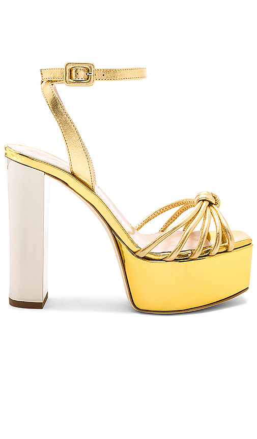 Photo of Giuseppe Zanotti Lavinia Platform in Metallic Gold - shop Giuseppe Zanotti shoes sales