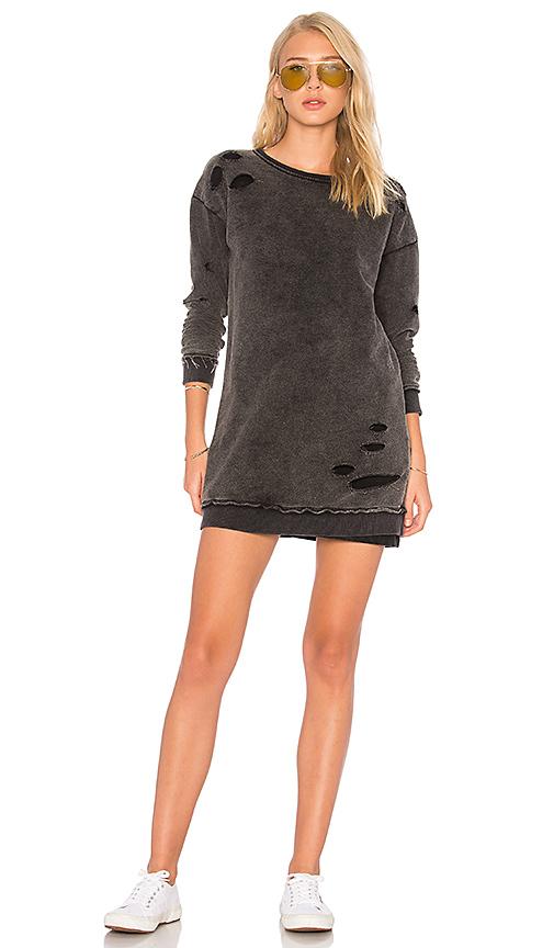 Generation Love Roxie Sweatshirt Dress in Black