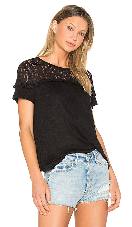 Generation Love Rooney Lace Tee in Black