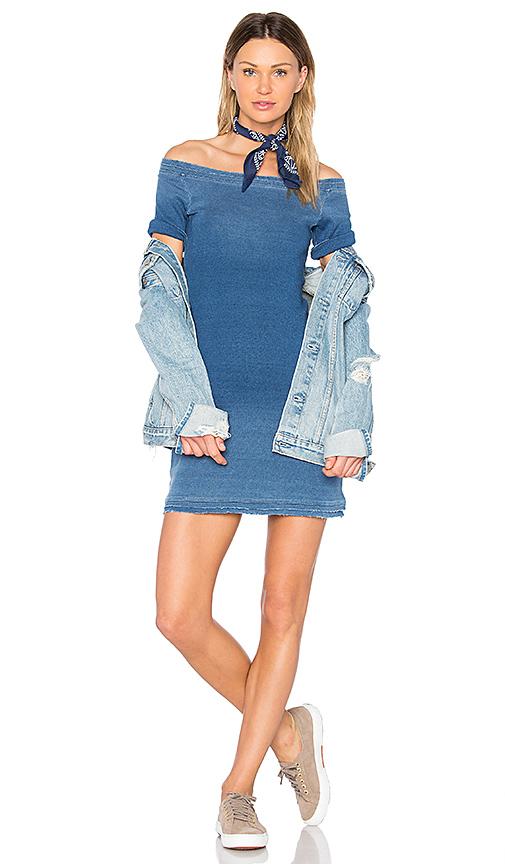 GM STUDIO Off Shoulder Dress in Blue