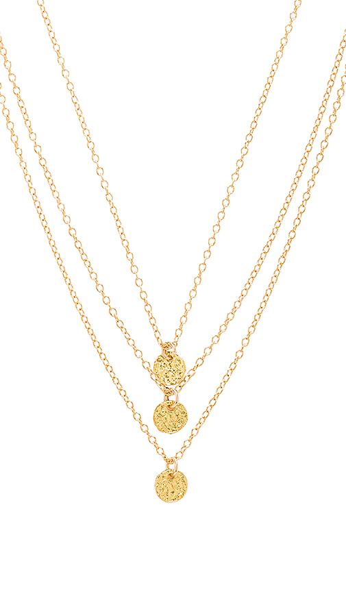 gorjana 3 Disc Necklace in Metallic Gold