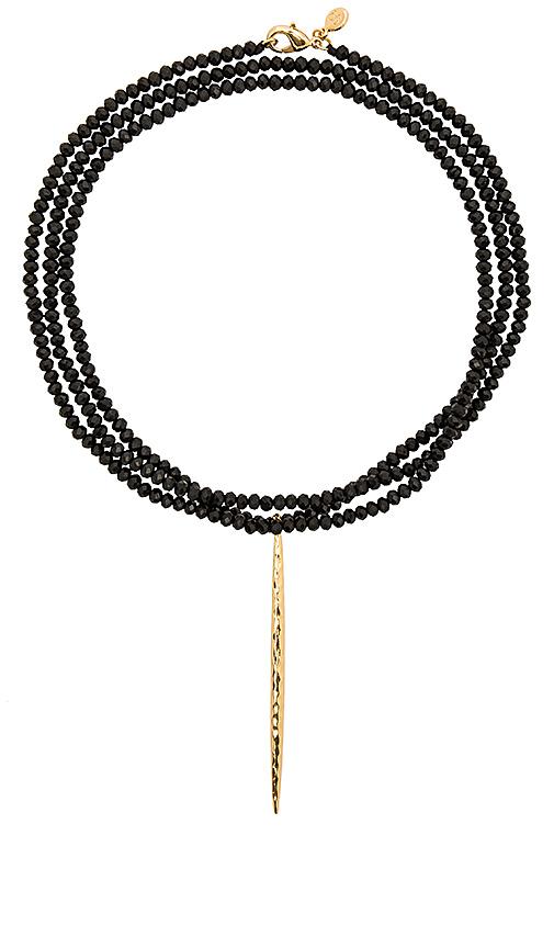 gorjana Nora Beaded Long Necklace in Metallic Gold