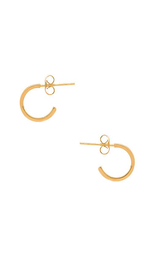 gorjana Taner Mini Hoop Earrings in Metallic Gold