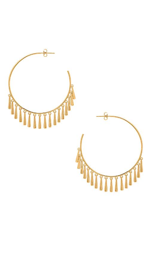gorjana Kona Hoop Earrings in Metallic Gold