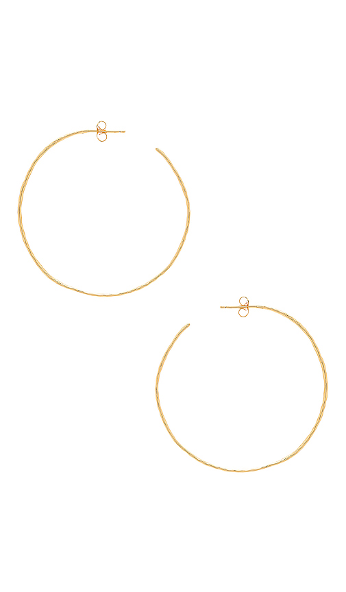 gorjana Harbour Hoop Earrings in Metallic Gold