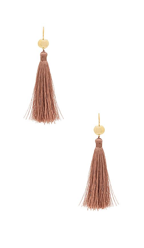 gorjana Leucadia Tassel Earrings in Metallic Gold