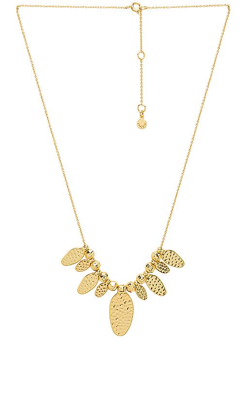 gorjana Leucadia Beaded Fan Necklace in Metallic Gold