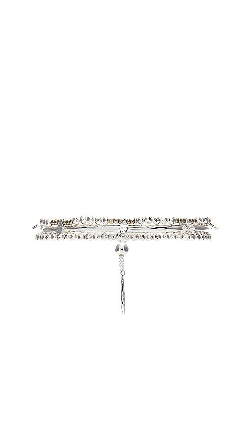 gorjana Leucadia Beaded Adjustable Bracelet in Metallic Silver