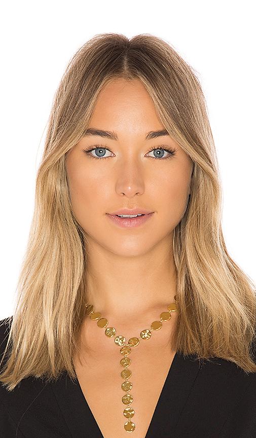 gorjana Chloe Lariat in Metallic Gold