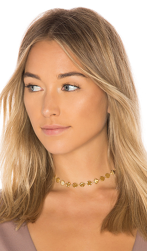 gorjana Chloe Choker in Metallic Gold