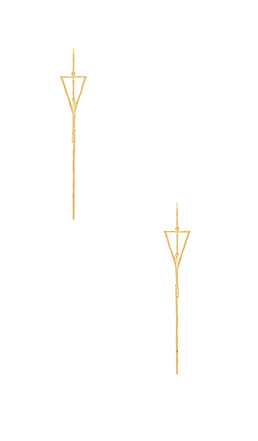 gorjana Interlocking Triangle Drop Earrings in Metallic Gold