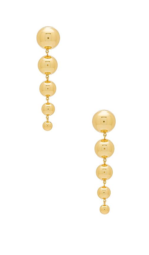 gorjana Newport Tiered Drop Earrings in Metallic Gold