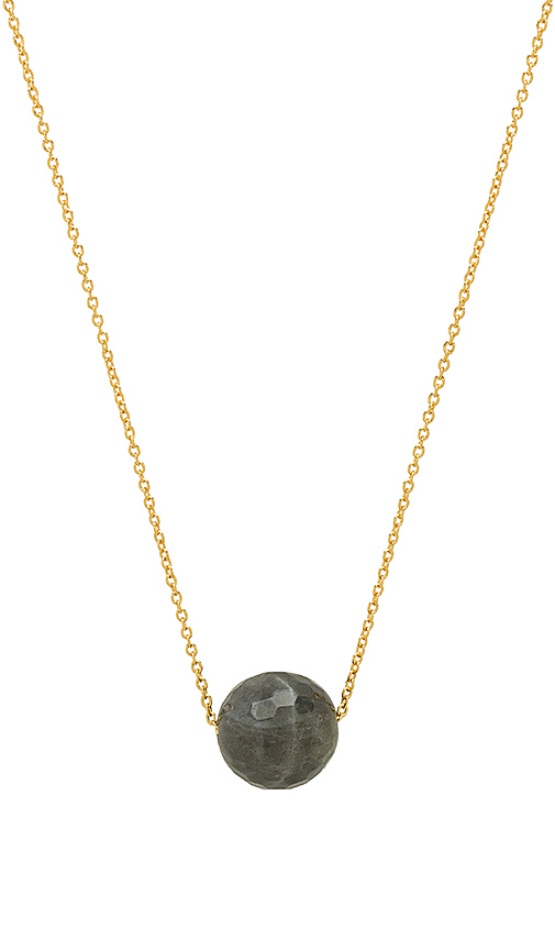 gorjana Power Gemstone Bead Adjustable Necklace in Metallic Gold