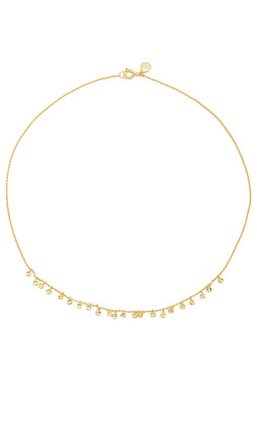 gorjana Chloe Mini Necklace in Metallic Gold.