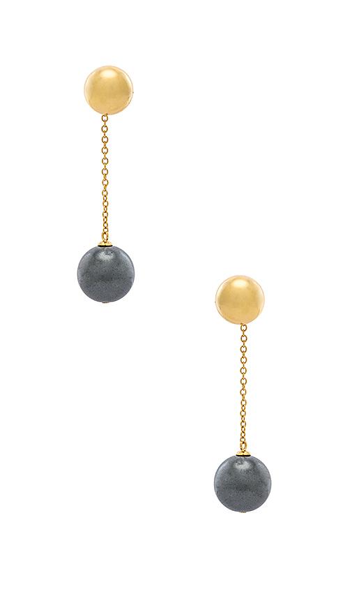 gorjana Newport Gemstone Earrings in Metallic Gold