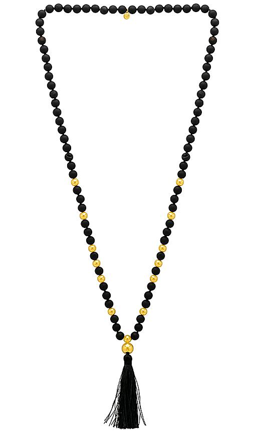 gorjana Hannah Druzy Tassel Long Necklace in Black