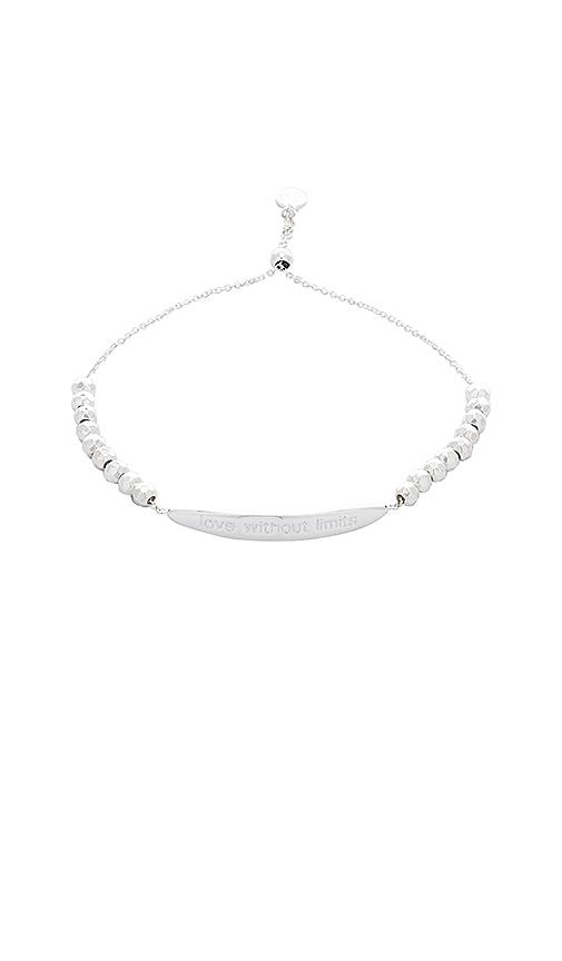 gorjana Love Without Limits Bracelet in Metallic Silver