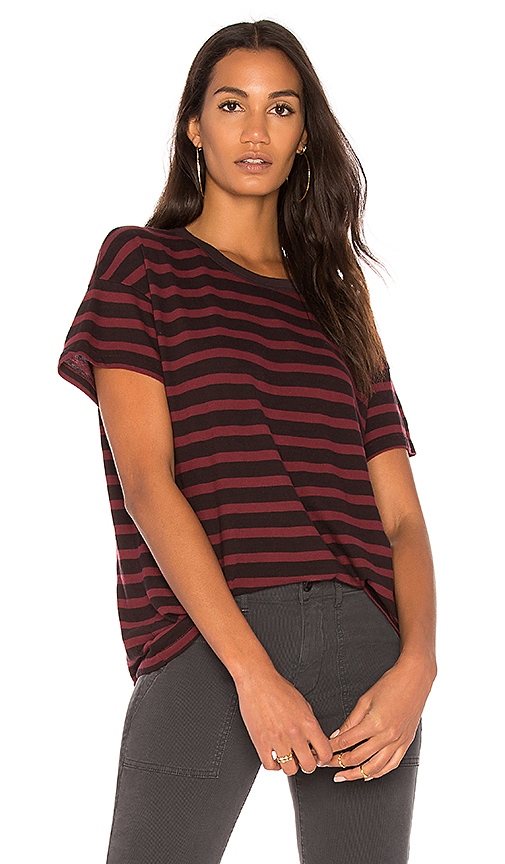 The Great The Boxy Crew Tee in Burgundy