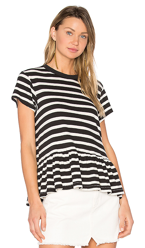 The Great The Ruffle Tee in Black & White