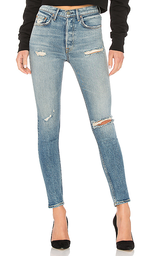 GRLFRND Karolina High-Rise Skinny Jean. - size 27 (also in 23,24,25,26,28,29,30,31,32)