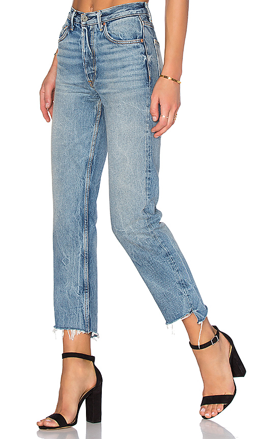 100% Authentic Maran Distressed Mid-rise Straight-leg Jeans - Mid denim GRLFRND View Clearance With Credit Card Sale Wiki From China For Sale 0gxN16eTr