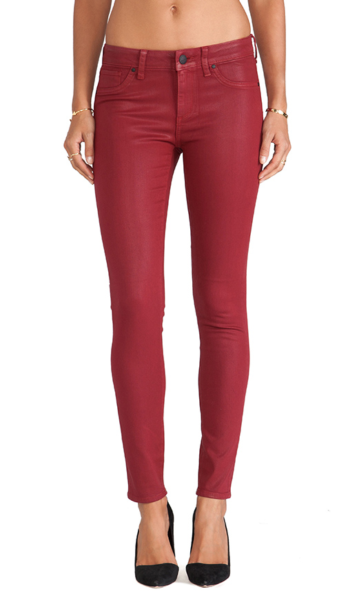 GREYWIRE Chelsea Coated Skinny in Blood