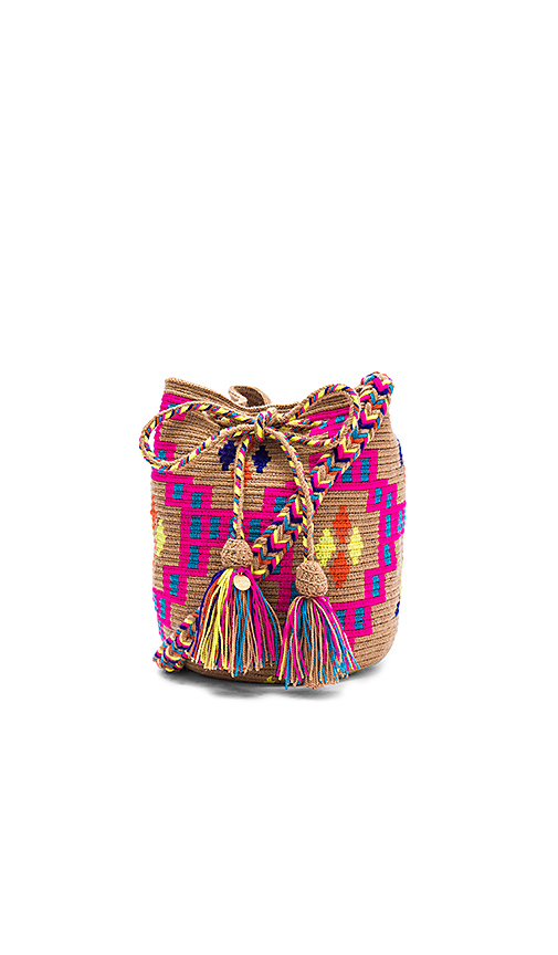 Guanabana Medium Tribal Bucket in Fuchsia.