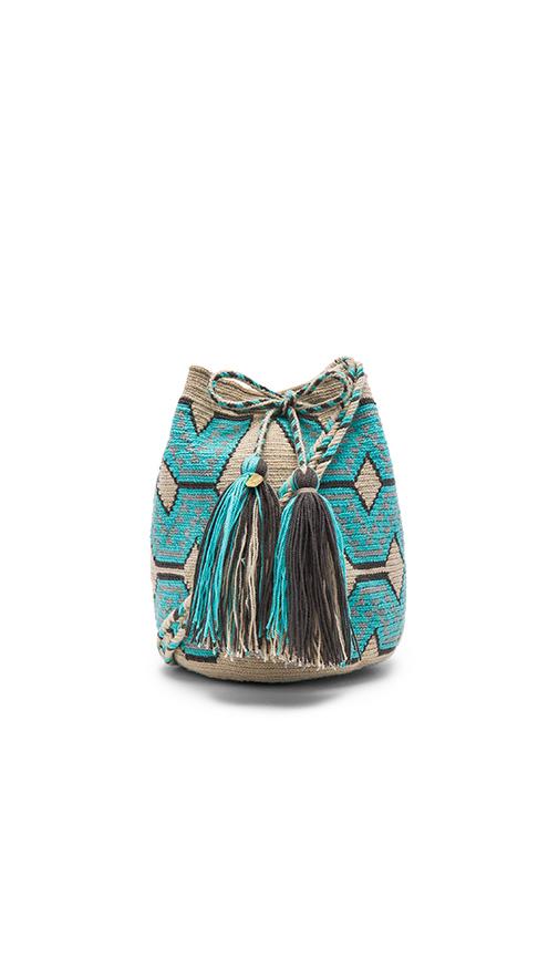 Guanabana Medium Tribal Bucket in Turquoise.