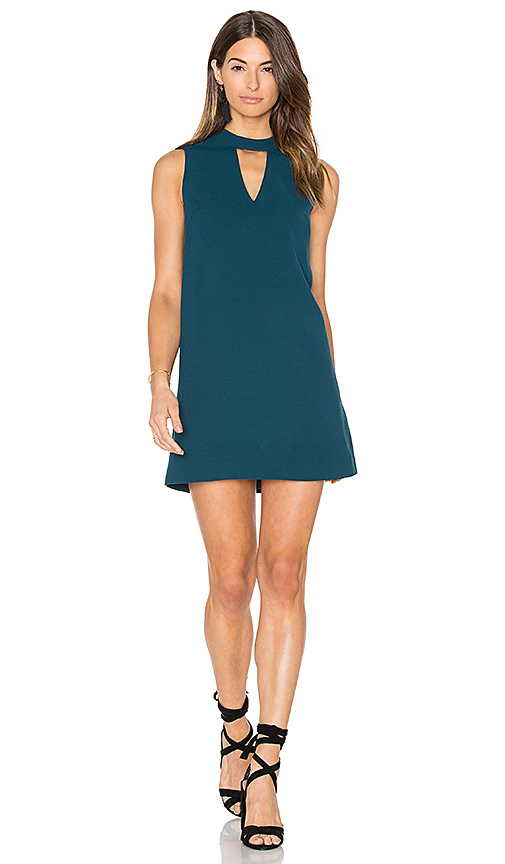 Greylin Dawnson Mock Neck Shift Dress in Teal. - size S (also in XS)