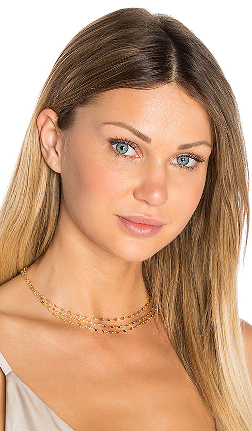 Haati Chai Trio Choker in Metallic Gold