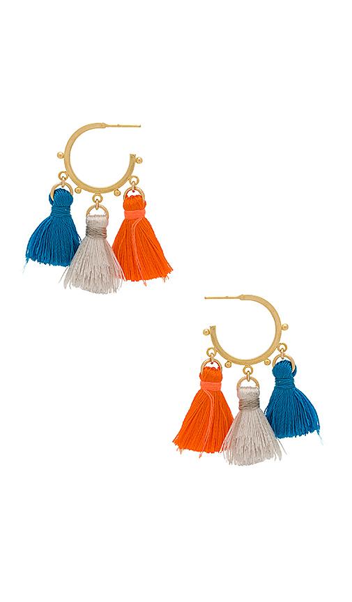 Haati Chai Rajasthani Earrings in Metallic Gold