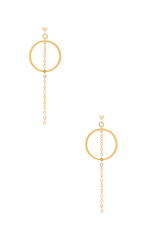 Haati Chai Lora Earrings in Metallic Gold