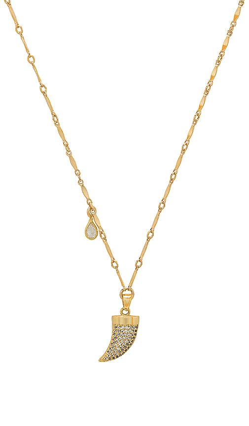 Haati Chai Raja Horn Necklace in Metallic Gold
