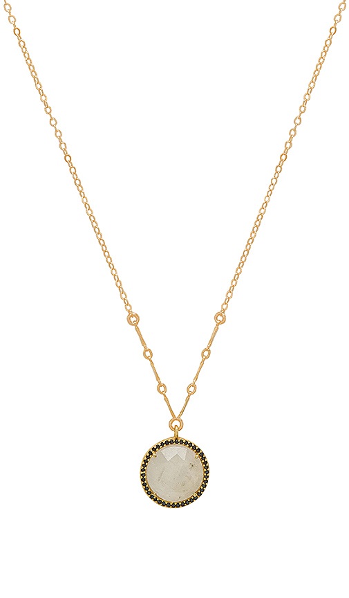 Haati Chai Holly Pendant Necklace in Metallic Gold
