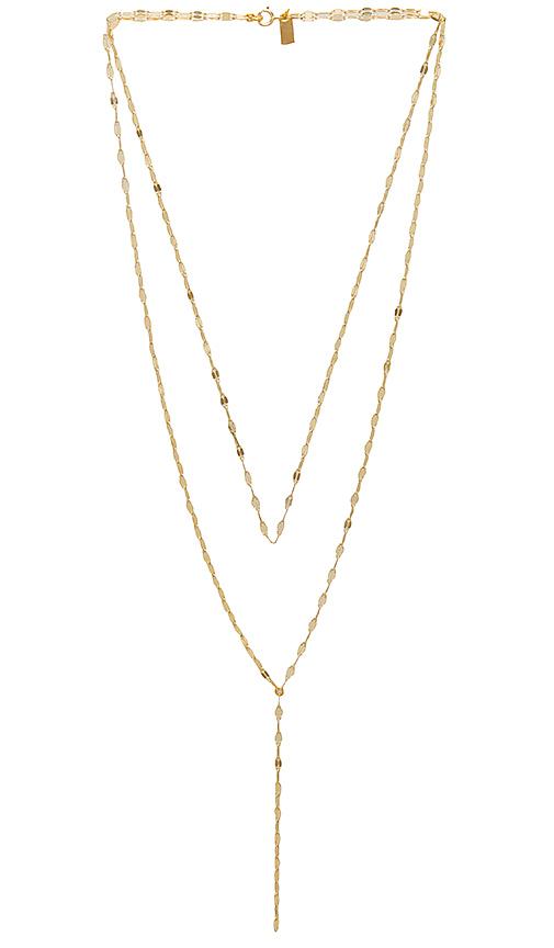 Haati Chai Roman Lariat Necklace in Metallic Gold