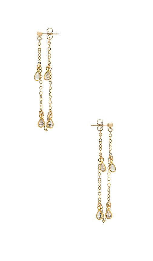 Haati Chai Naomi Earrings in Metallic Gold