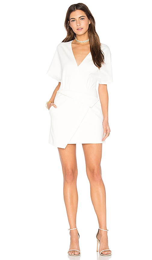 Halston Heritage Wrap Dress in White. - size 0 (also in 2)