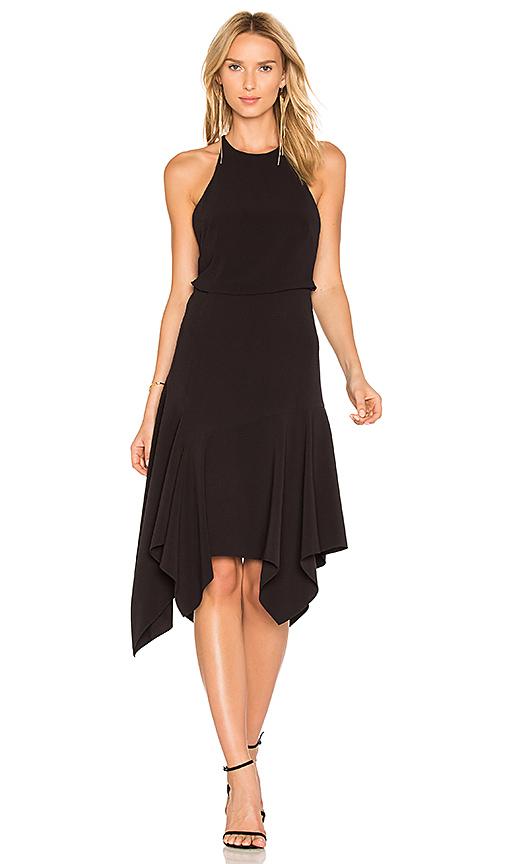 Halston Heritage Halter Midi Dress in Black