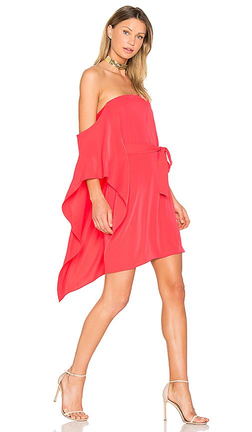Halston Heritage One Sleeve Mini Dress in Fuchsia