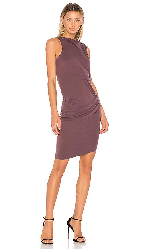 Halston Heritage Mock Neck Draped Dress in Purple