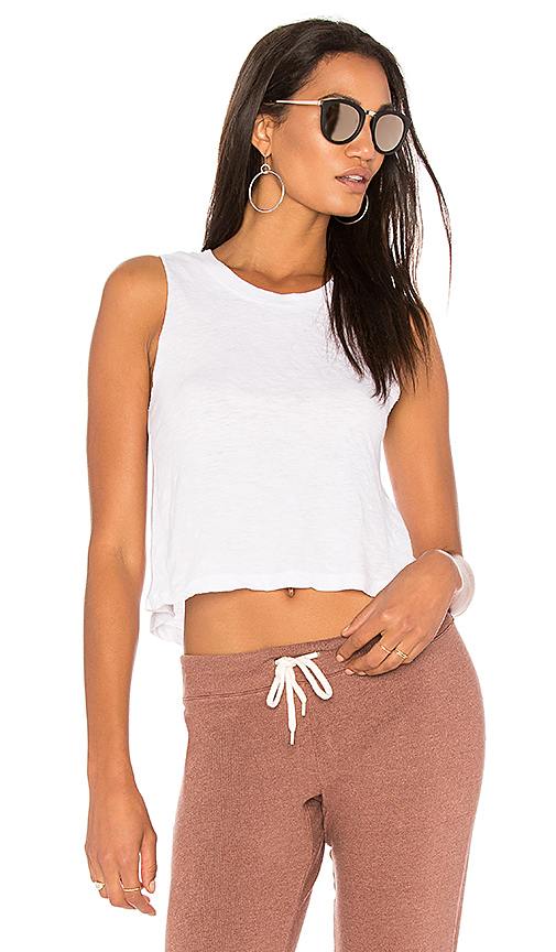 MONROW Knot Back Top in White