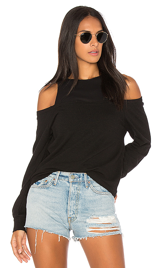 MONROW Double Layer Top in Black