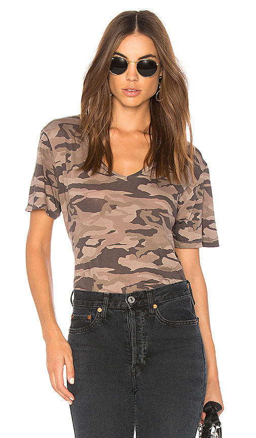 MONROW Camo Oversized Tee in Orange. - size XS (also in L,M,S)