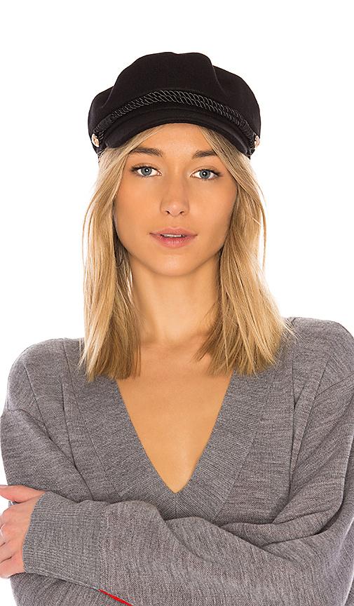 Hat Attack Emmy Wool Cap in Black