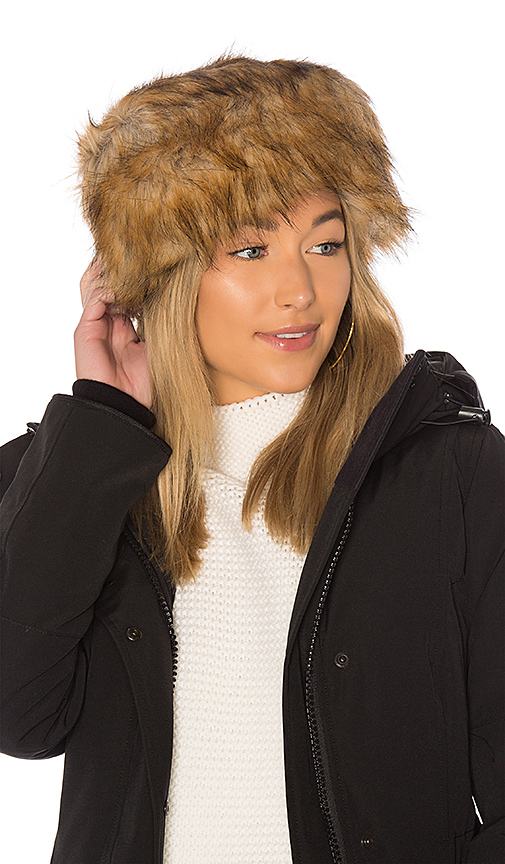 Hat Attack Faux Fur Hat in Brown
